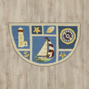 Milbridge Blue Nautical Area Rug