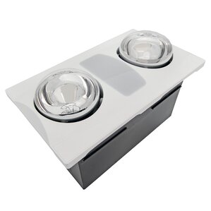 Bathroom Exhaust Fan With Heater bathroom fans - fans | wayfair