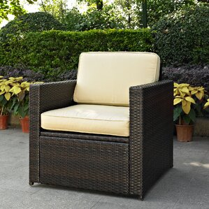 belton outdoor wicker deep seating chair with cushion