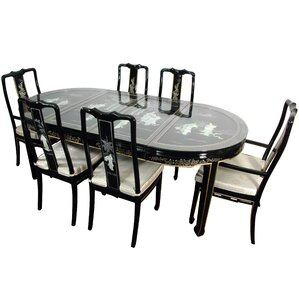 Lacquer 7 Piece Dining Set by Oriental Fu..