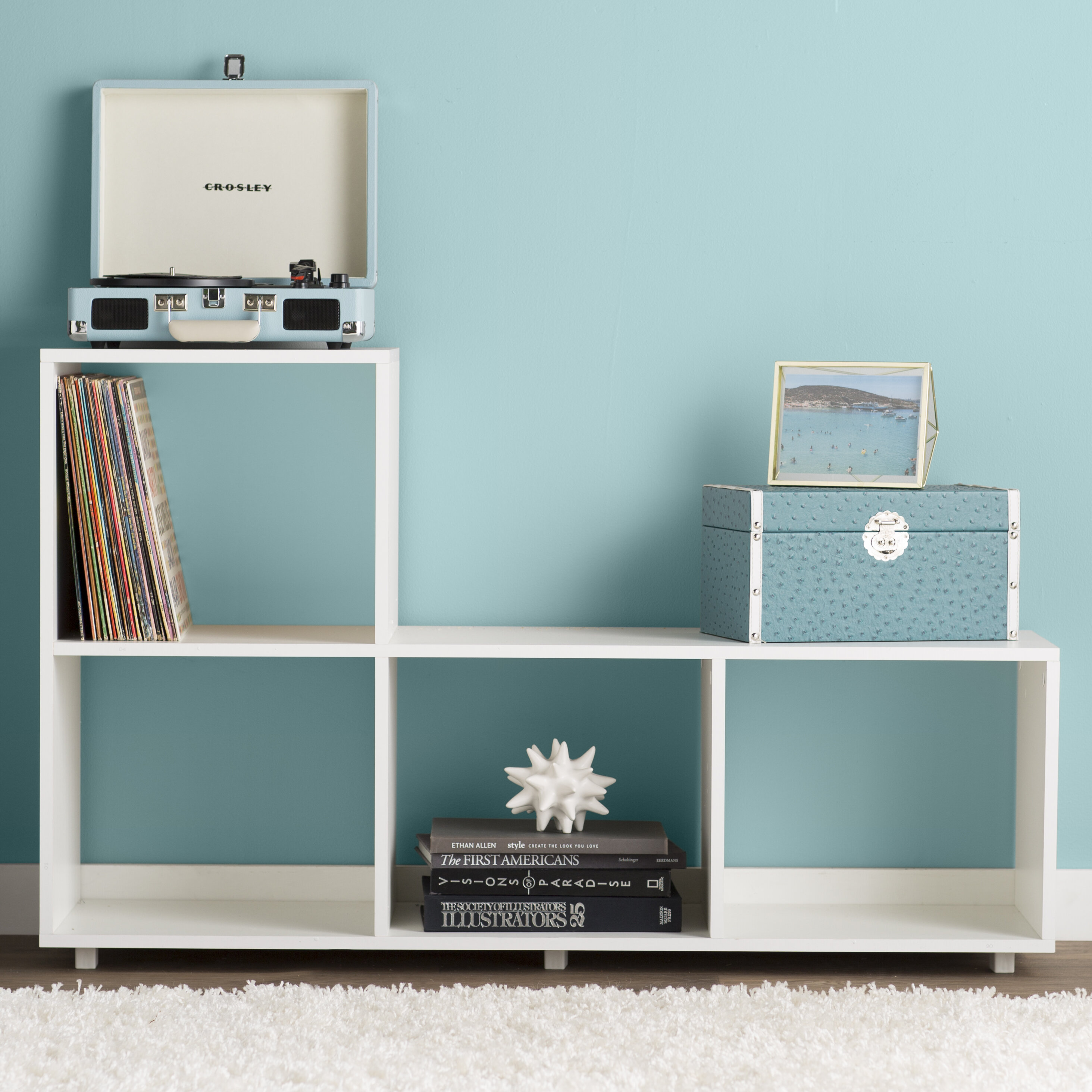 Zipcode Design Erica Sleek Lagarto Cube Unit Bookcase & Reviews ...