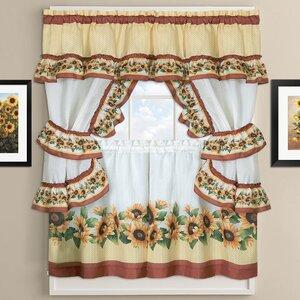 Sunflower Cottage Kitchen Curtains