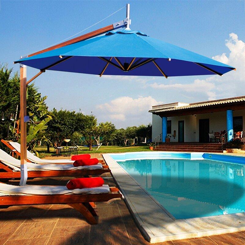 Bambrella Side Wind Sirocco 10 Cantilever Umbrella Wayfair Ca