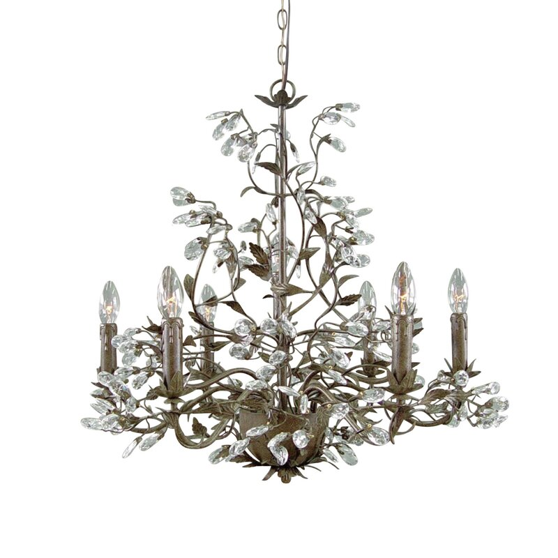 Ophelia & Co. Colonial 6-Light Candle Style Chandelier