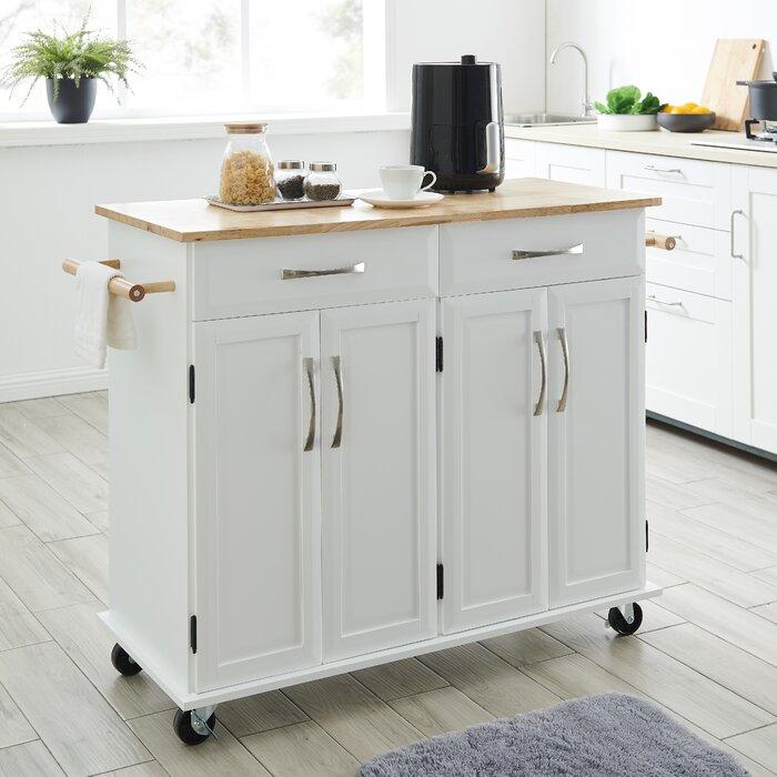 Pinkston Storage Kitchen Cart