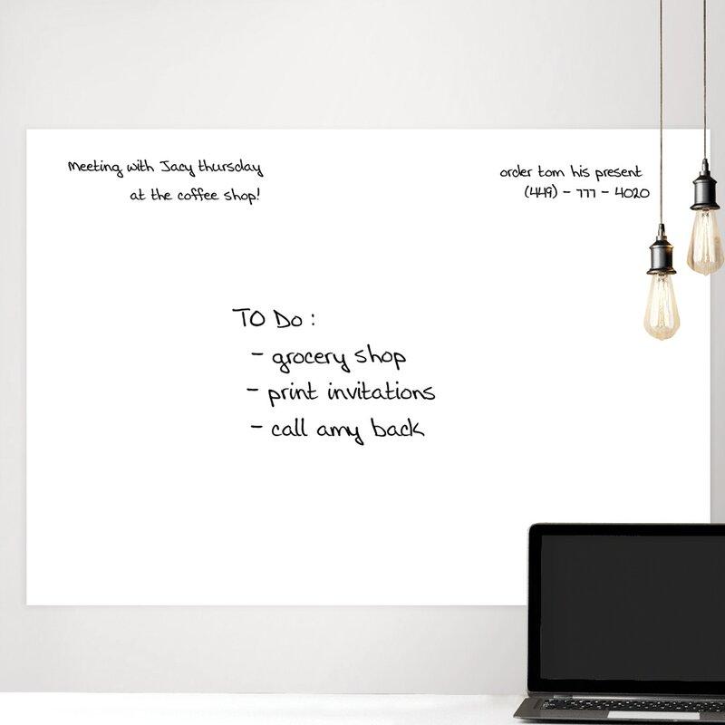 wallpops! giant whiteboard wall decal & reviews | wayfair.ca