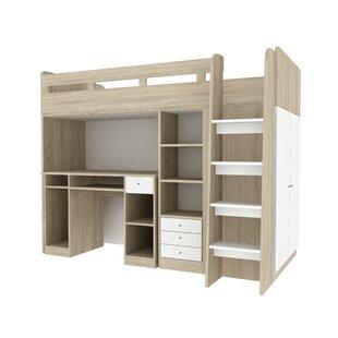 desk twin bunk loft beds you ll love wayfair rh wayfair com twin bunk bed with desk underneath twin bunk bed with desk underneath