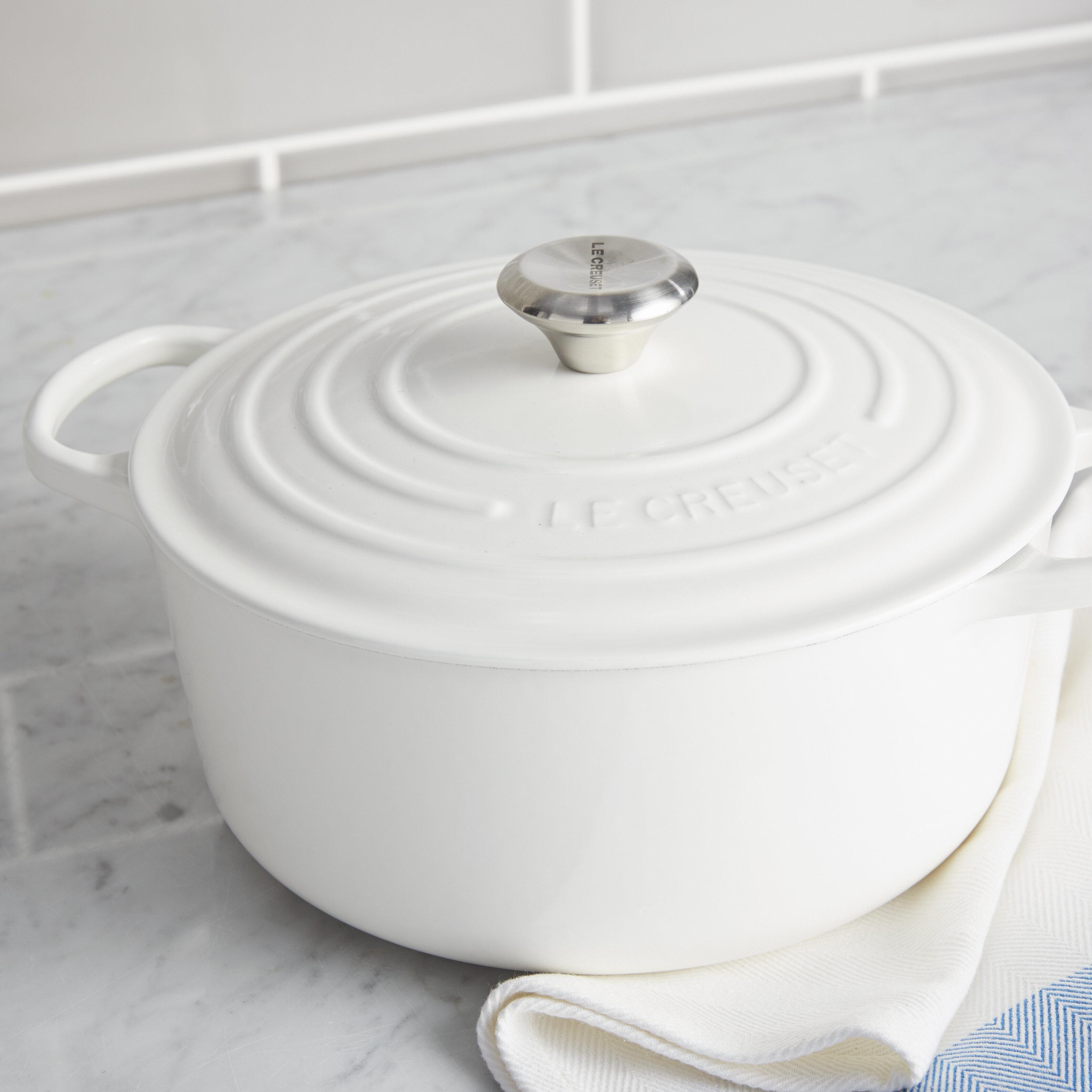 le creuset 7 5 quart dutch oven quart round le creuset signature dutch oven reviews wayfair