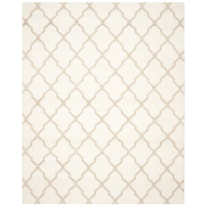 Dhurries Ivory/Camel Area Rug