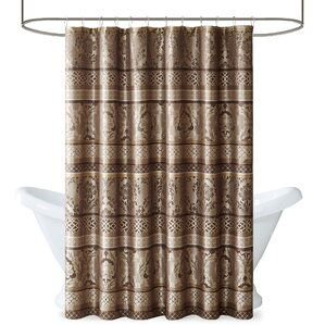 brown and white shower curtain. Bartle Shower Curtain Brown Curtains You ll Love  Wayfair