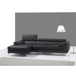 Courtdale Leather Sectional  sc 1 st  Wayfair : black leather sectional with chaise - Sectionals, Sofas & Couches