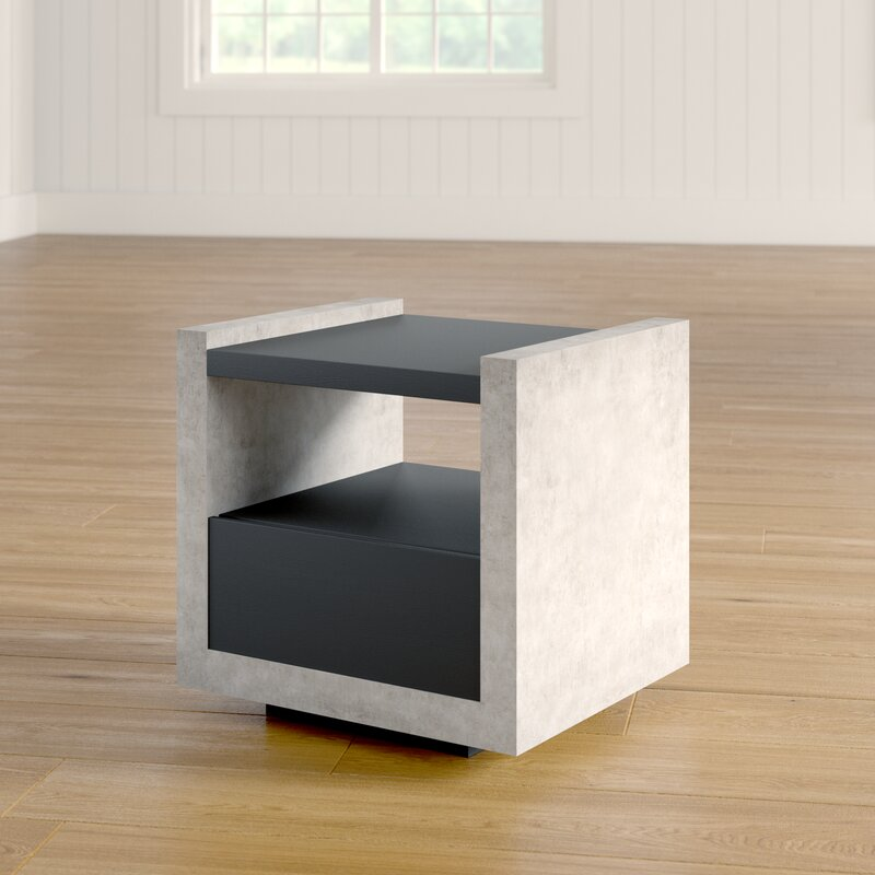 17 Stories Evony Contemporary End Table Amp Reviews Wayfair