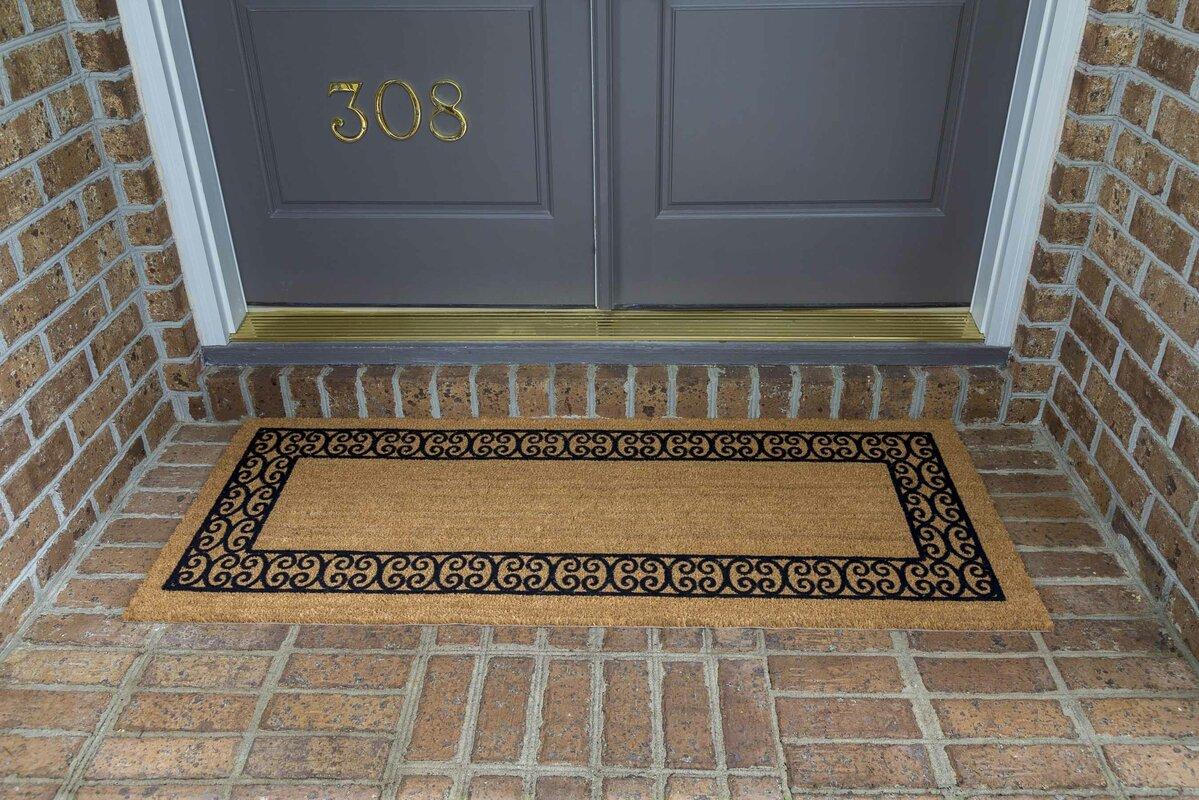 Fleur De Lis Living Frances Charleston Border Double Door Doormat ...