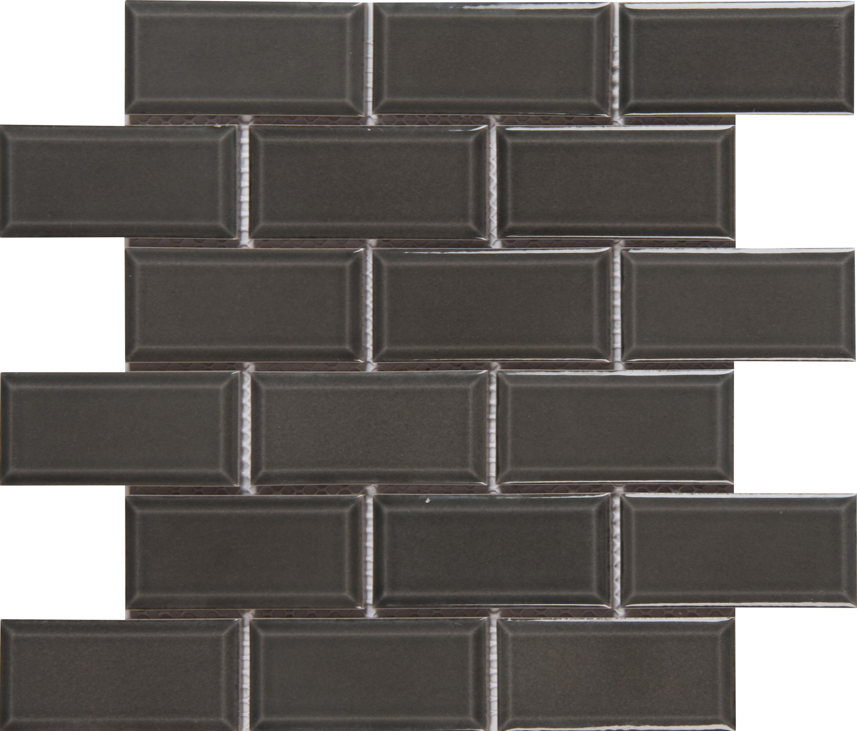 Msi Charcoal Bevel 2 X 4 Ceramic Subway Tile In Gray Wayfair