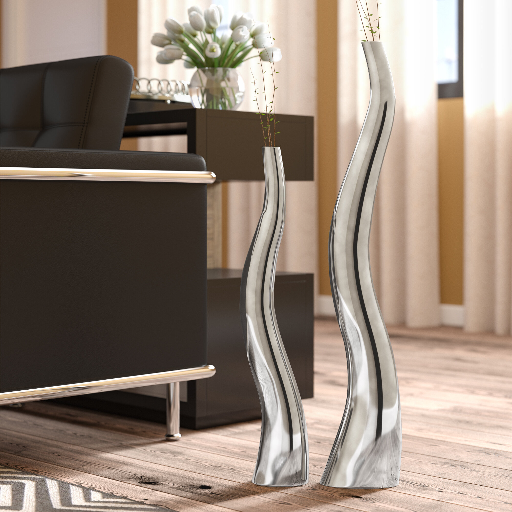 living exciting home for vase silver floor accessories l tall elegant