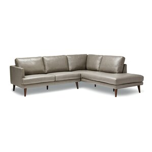 Bond Leather Sectional by ..