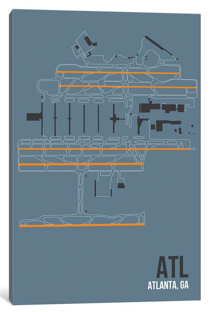 East Urban Home Airport Diagram Series Atlanta Hartsfield Jackson