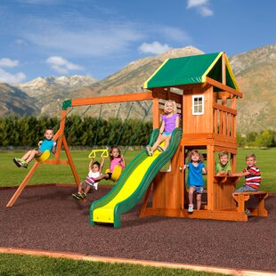 Oakmont All Cedar Swing Set. By Backyard Discovery