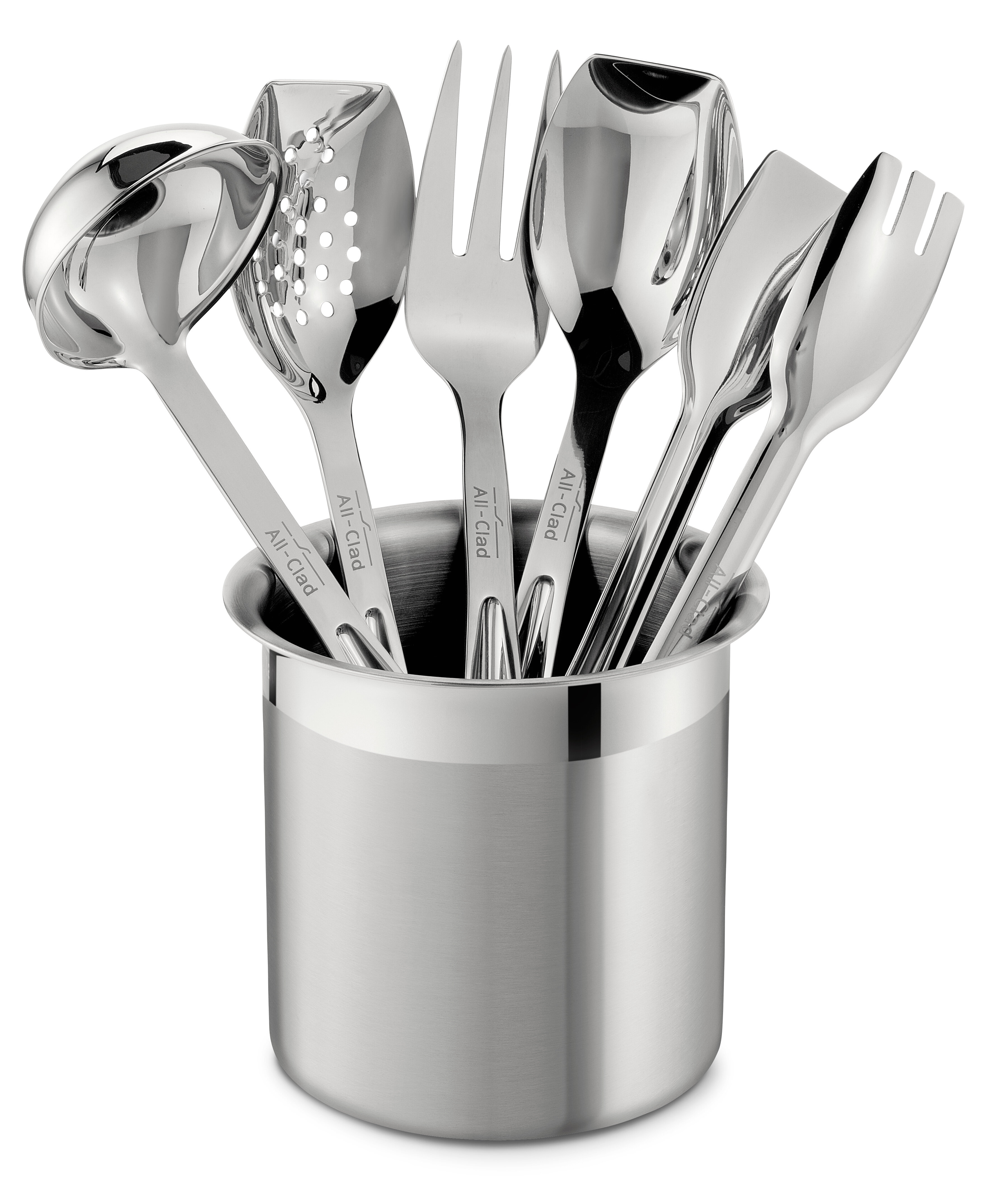 All-Clad All Professional Tools 6 Piece Cook Serve Tool Utensil Set ...