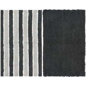Pratincole Hand-Tufted 2 Piece Gray Area Rug Set
