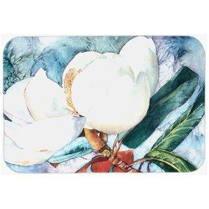 Flower Magnolia Kitchen/Bath Mat