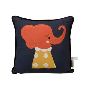 Elle Elephant Cotton Throw Pillow