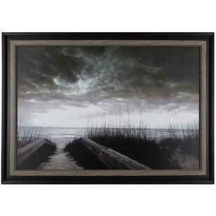 28 25 H X 40 W Ready To Hang Path Lake By P T Turk Framed Photographic Print