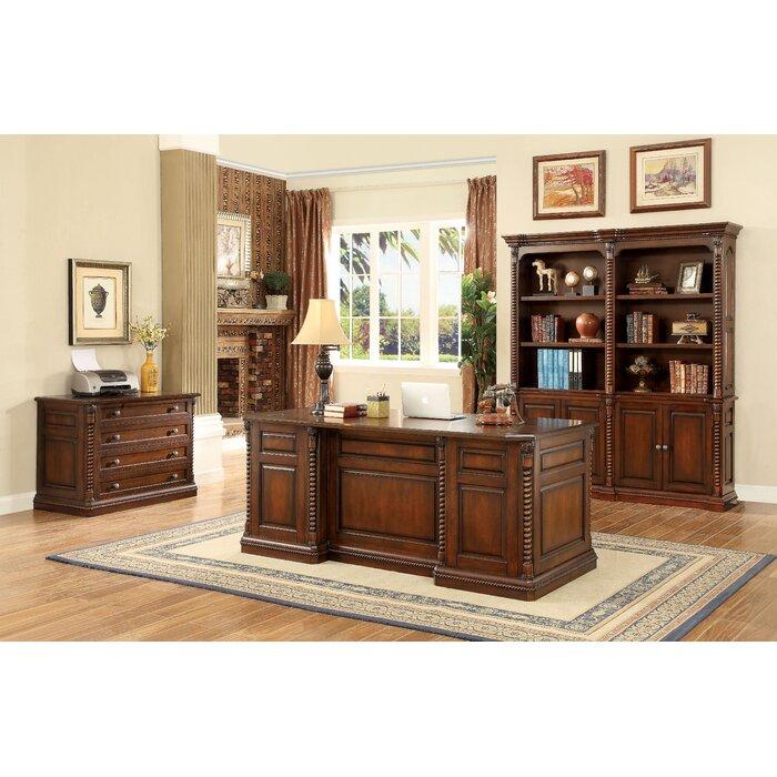 traditional dark oak furniture to ardnaglass traditional dark oak executive desk darby home co