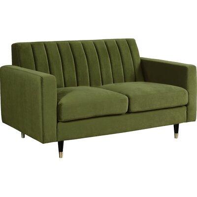 Brayden Studio Conn Loveseat Upholstery: Olive