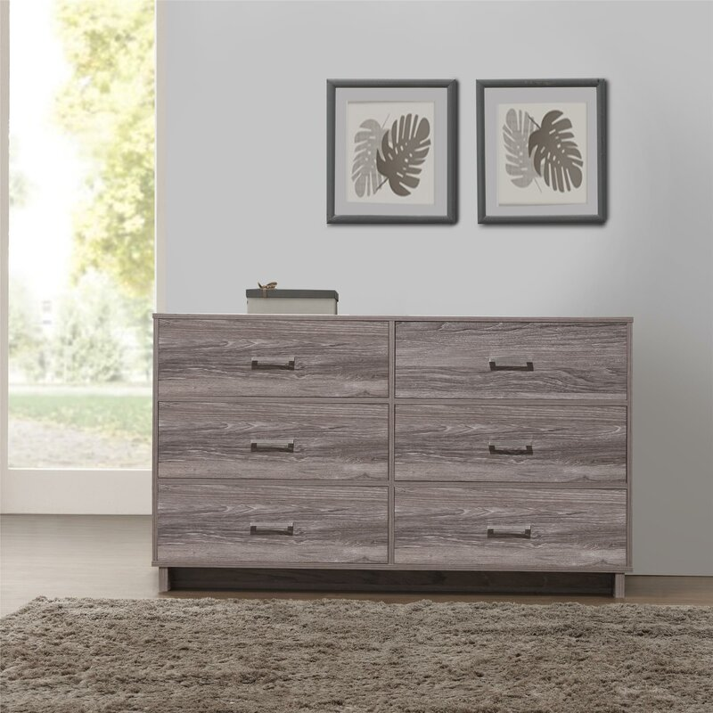 Chicopee Modern 6 Drawer Dresser. Zipcode Design Chicopee Modern 6 Drawer Dresser   Reviews   Wayfair
