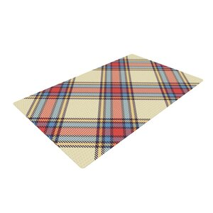 Sunday Brunch Plaid Tartan Red/Yellow Area Rug