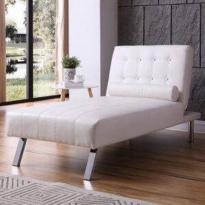 Find the best chaise lounge chairs wayfair for Button tufted chaise lounge