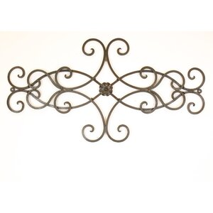 Hearts Scroll Iron Door Topper Wall Decor