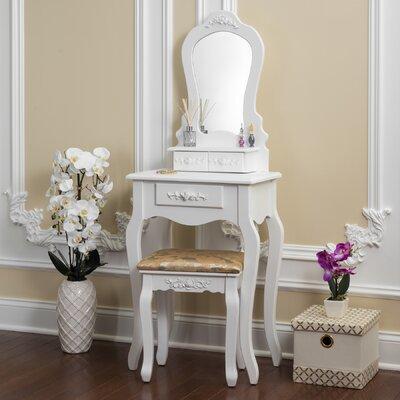 Superior Bentleyville Elegant Vanity Set With Mirror