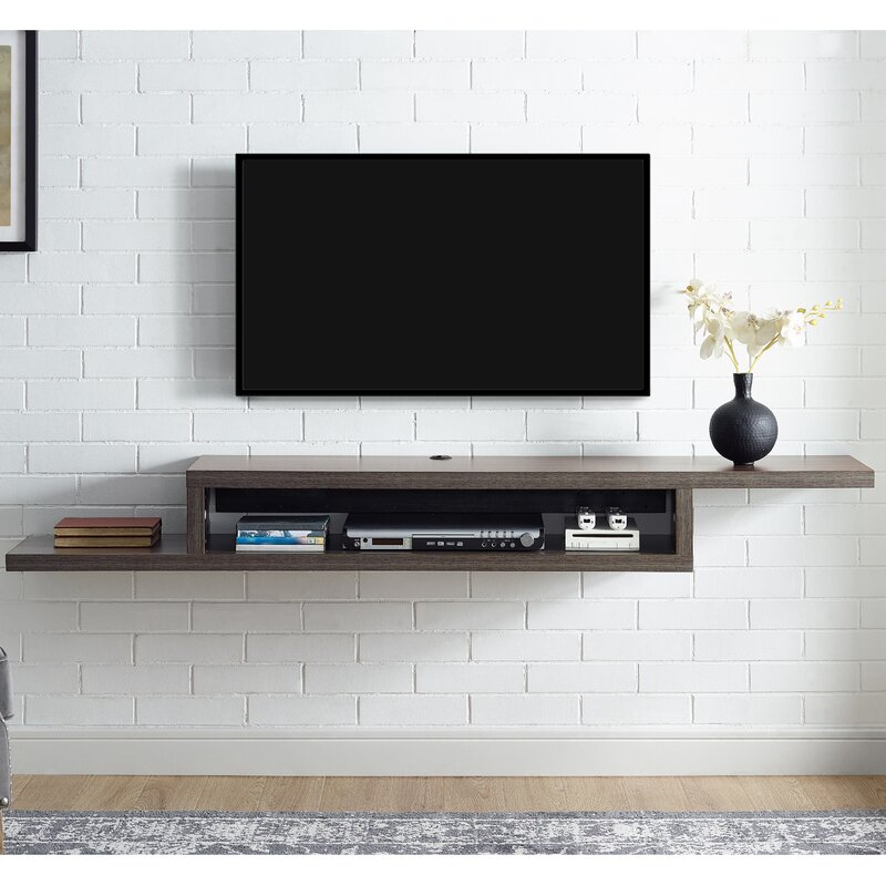 martin home furnishings ascend 60 asymmetrical wall mounted tv rh wayfair com Under TV Component Shelf wall mounted tv and component shelf combo