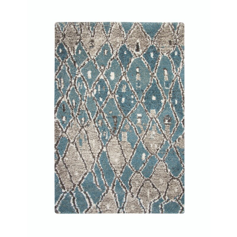 Teasley Blue Brown Tan Area Rug