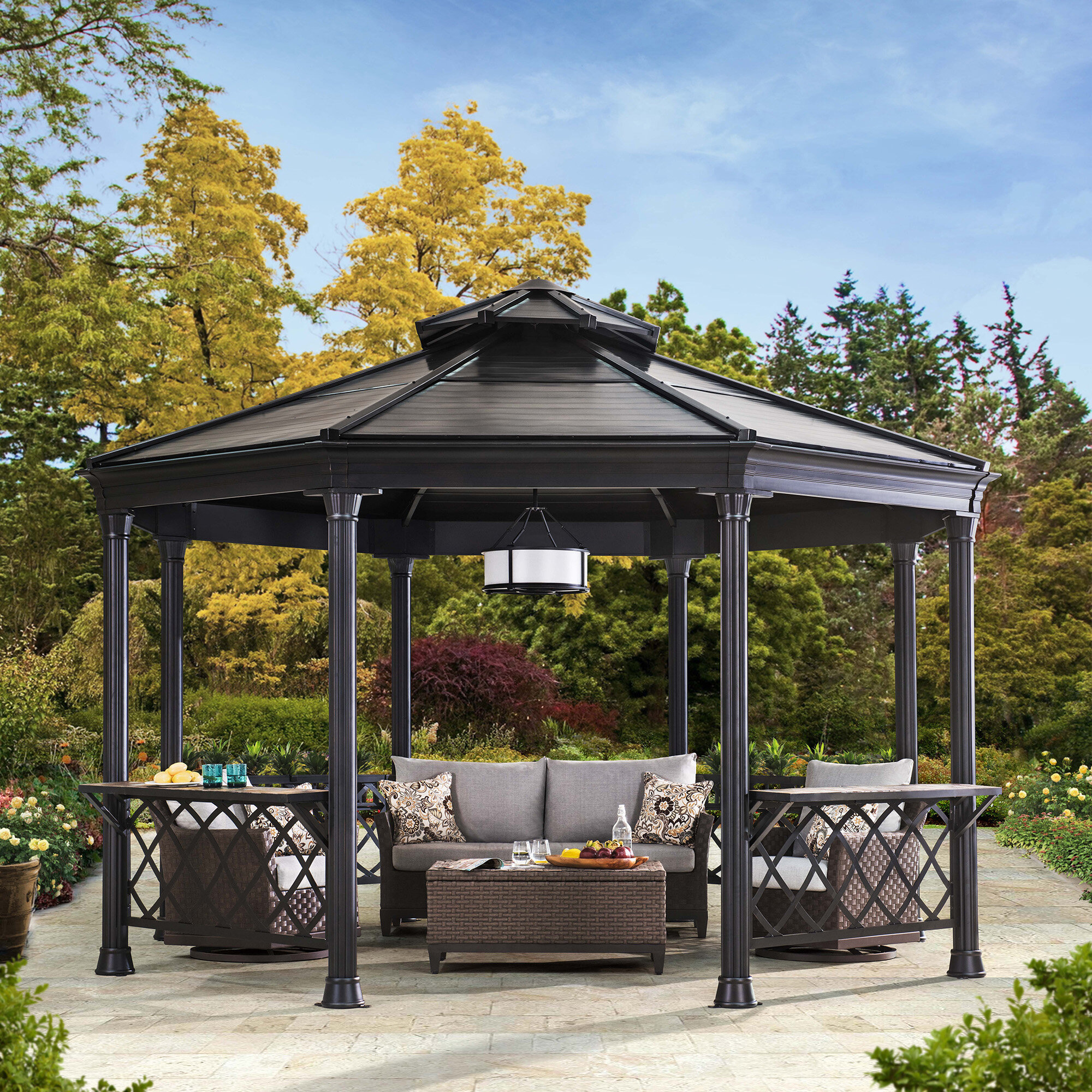 Charmant Sunjoy Circlet 14 Ft. W X 13 Ft. D Metal Patio Gazebo | Wayfair