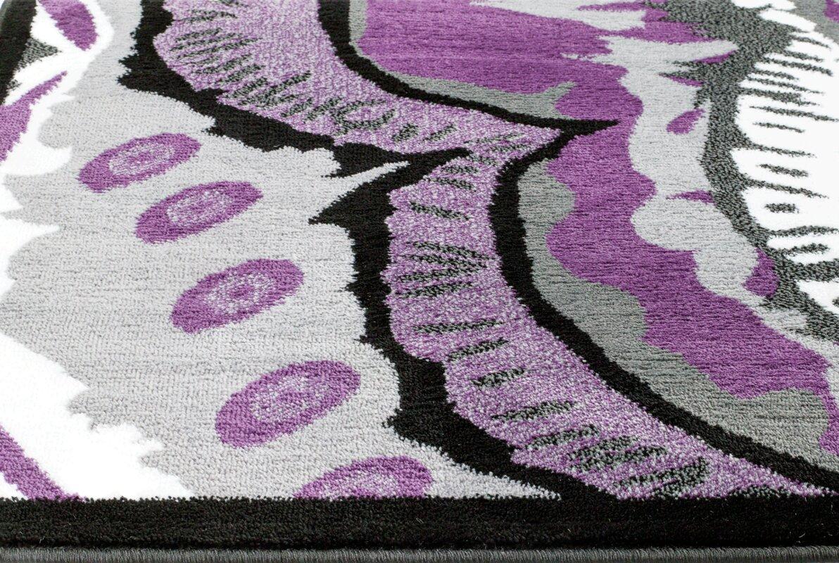 Alize Modern Purple Area Rug