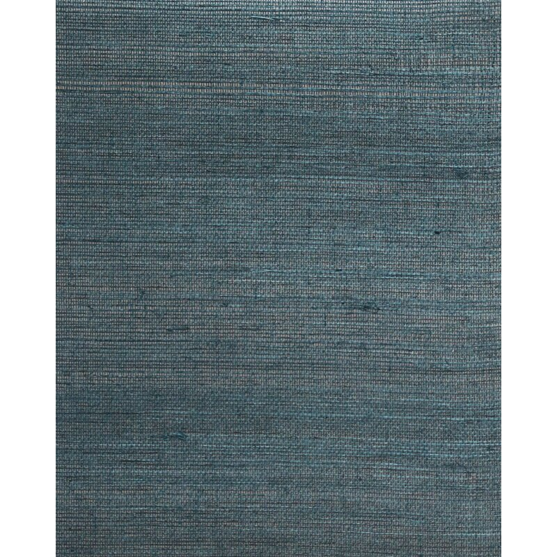 """17 Stories Cosmo 24 L x 36"""" W Plain Sisals Wallpaper Roll  Color: Teal"""