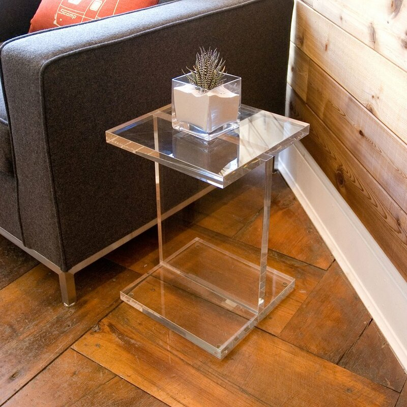 Genial Acrylic I Beam End Table