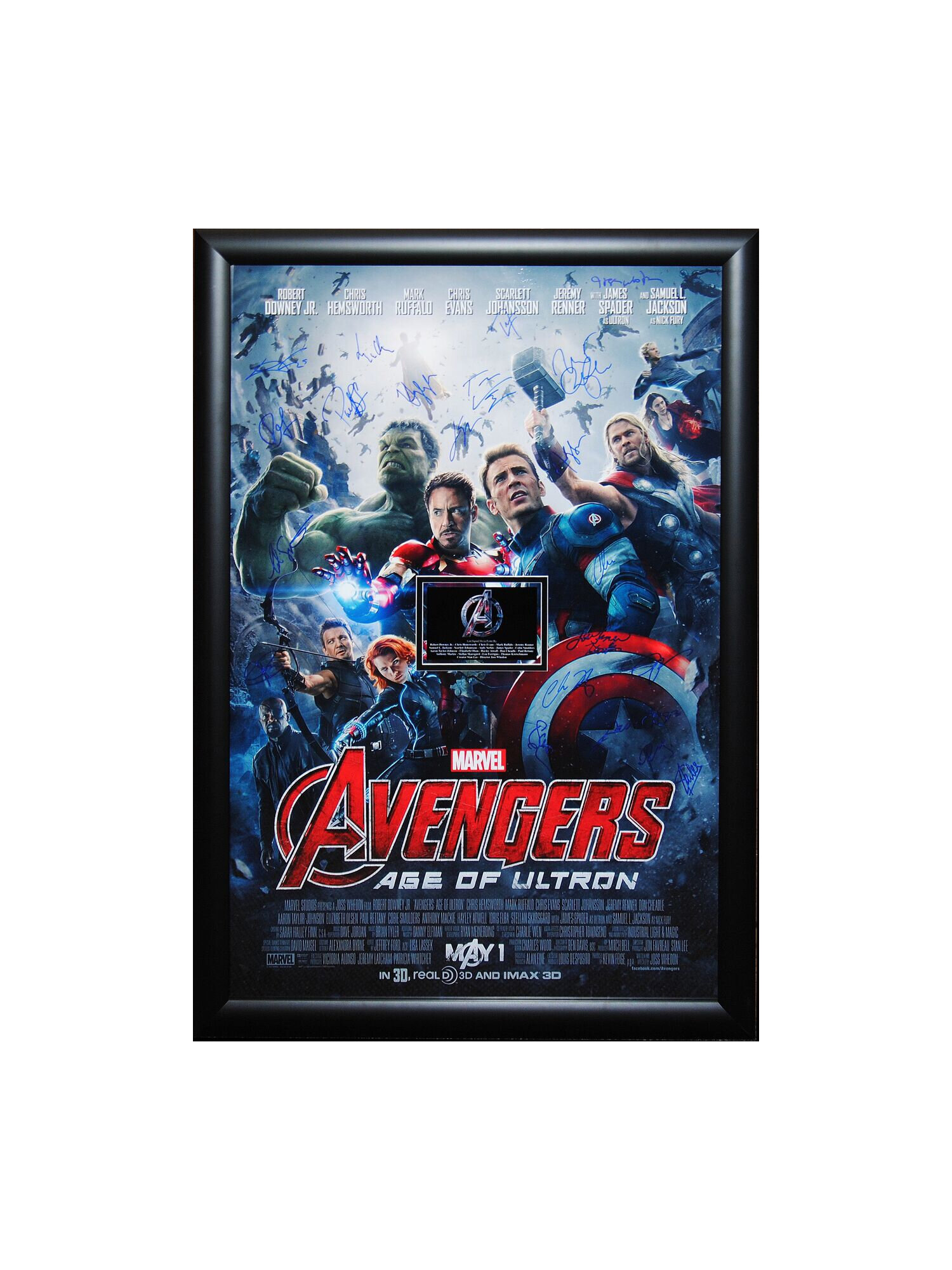 Luxewest Avengers Age Of Ultron Autographed Movie Poster Framed Wall Art Wayfair