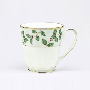 Holly and Berry Gold 12 oz. Mug