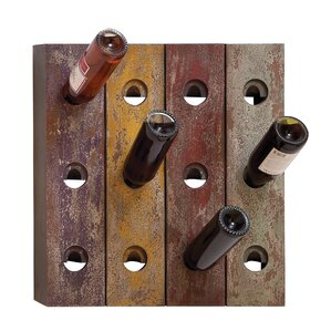 12 Bottle Wall Mounted Wine Rack by ABC Home Collection