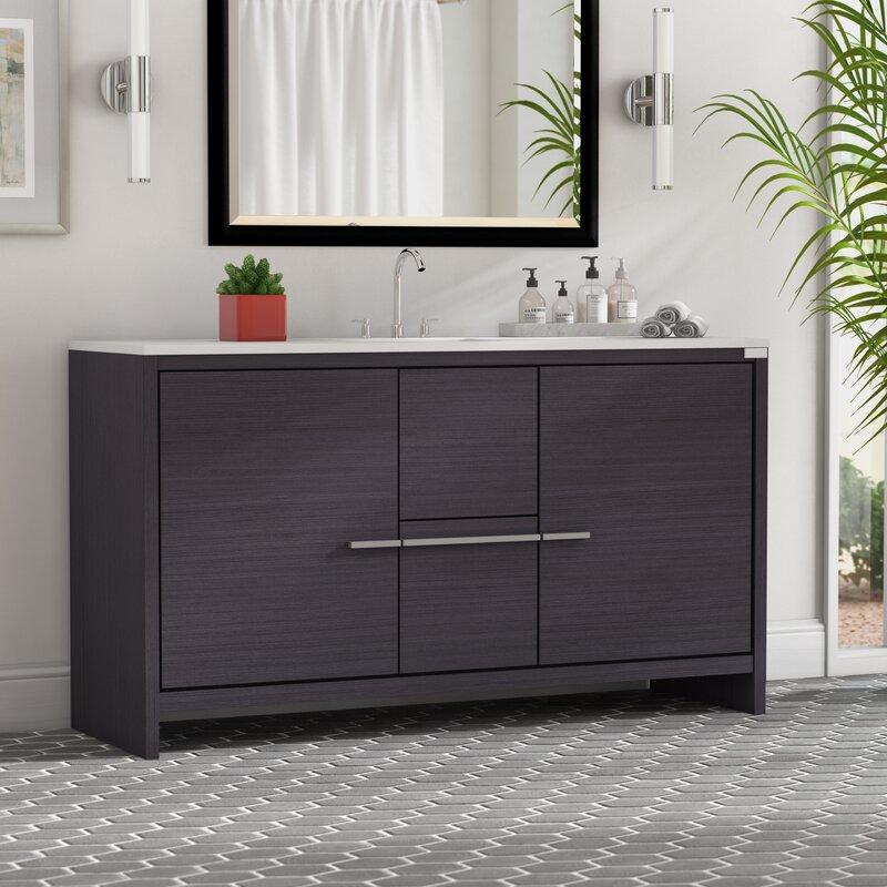 Mercury Row Bosley 60 Quot Single Modern Bathroom Vanity Set