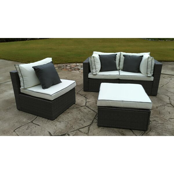 Marvelous Burruss Patio Sectional With Cushions