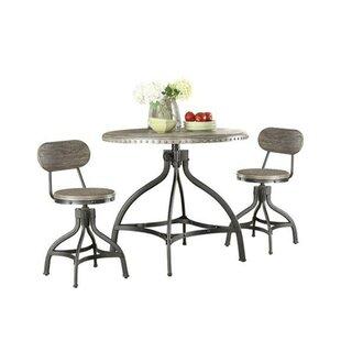 Lohr Beautiful 3 Piece Adjustable Pub Table Set