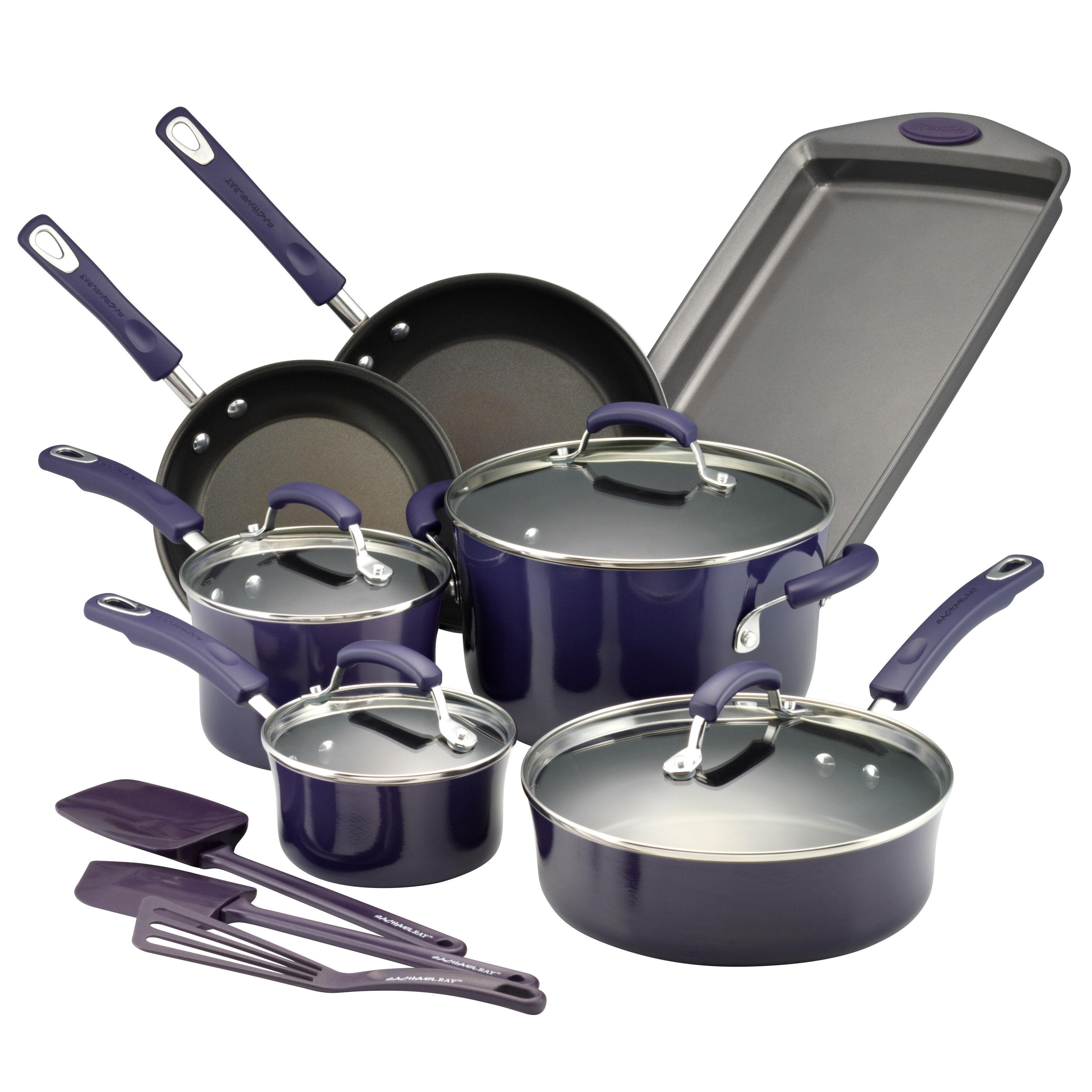 Rachael Ray 14 Piece Nonstick Cookware Set Reviews Wayfair