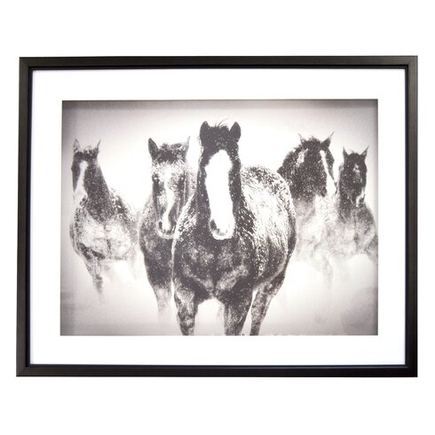 Union Rustic \'Winter Rumble Showbox Horse\' Framed Photographic Print ...
