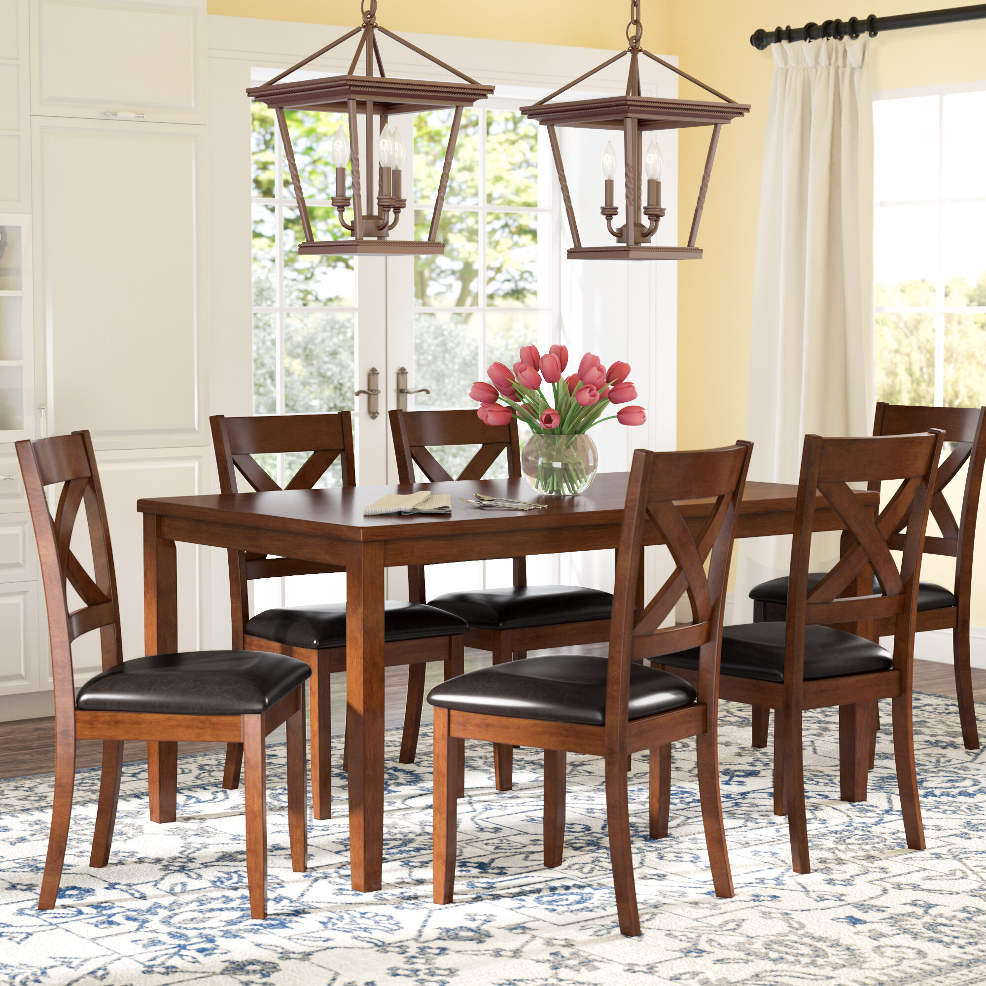 Darby Home Co Nadine 7 Piece Breakfast Nook Dining Set Reviews
