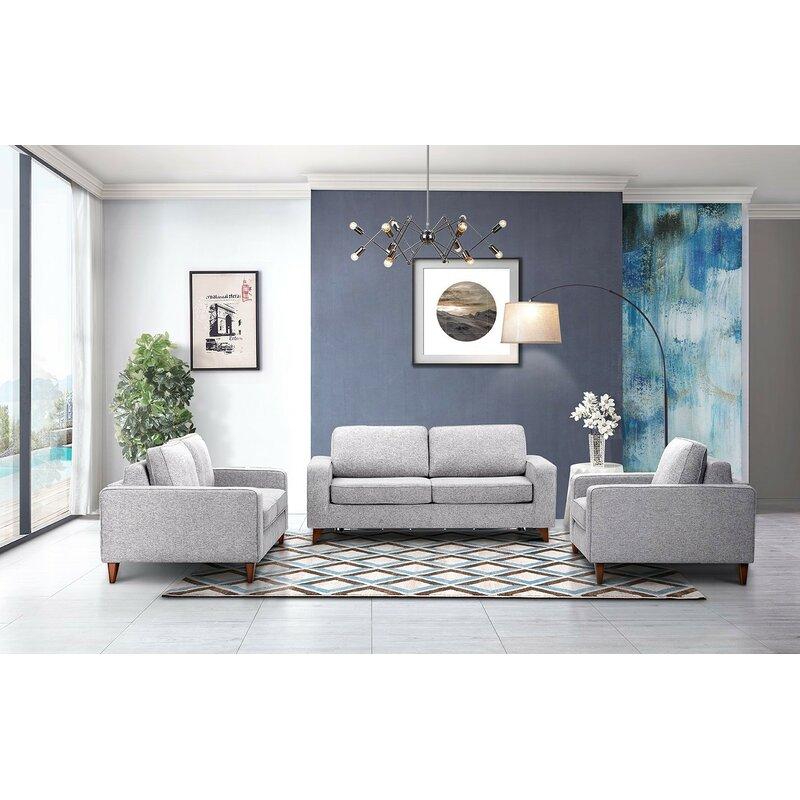 Artemas 3 Piece Sleeper Living Room Set